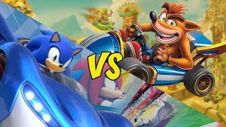 Crash Team Racing Nitro Fueled Vs. Team Sonic Racing - In Depth Comparison
