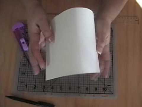 Manualidades para Bodas: Como doblar la cartulina para una t