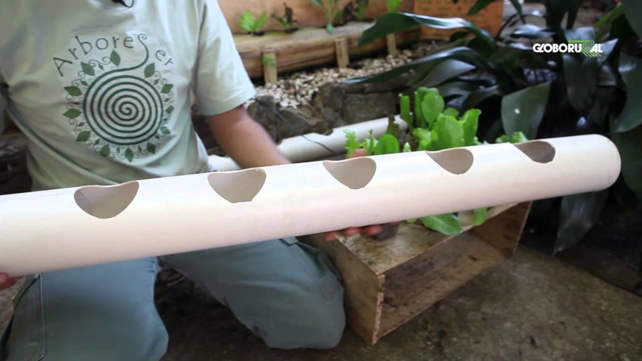 jardim vertical tubo pvc:Horta Urbana Vertical – YouTube
