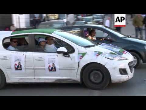Algeria's frail president wins fourth term in landslide victory; celebrations