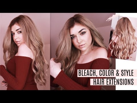 DIY: HOW TO BLEACH, DYE & STYLE HAIR EXTENSIONS AT HOME | CHLOE ZADORI