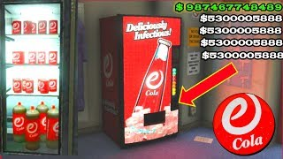 Gta 5 E-Cola vending machine glitch 2 ( make millions )+( Important message For less returns )