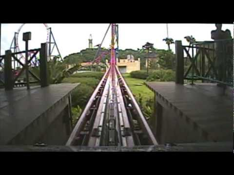Sky Car Roller Coaster POV Intamin Launched Rollercoaster Mysterious Island China