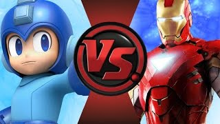 MEGA MAN vs IRON MAN! Cartoon Fight Club Episode 70