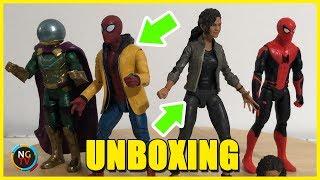 Abriendo el Spider-Man Homecoming con uniforme y a MJ de Zendaya [Unboxing Marvel Legends]