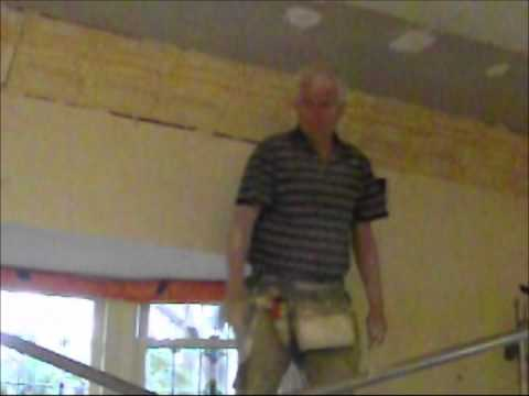 Plastering How to Install an Ornate Plaster Ceiling Part 16