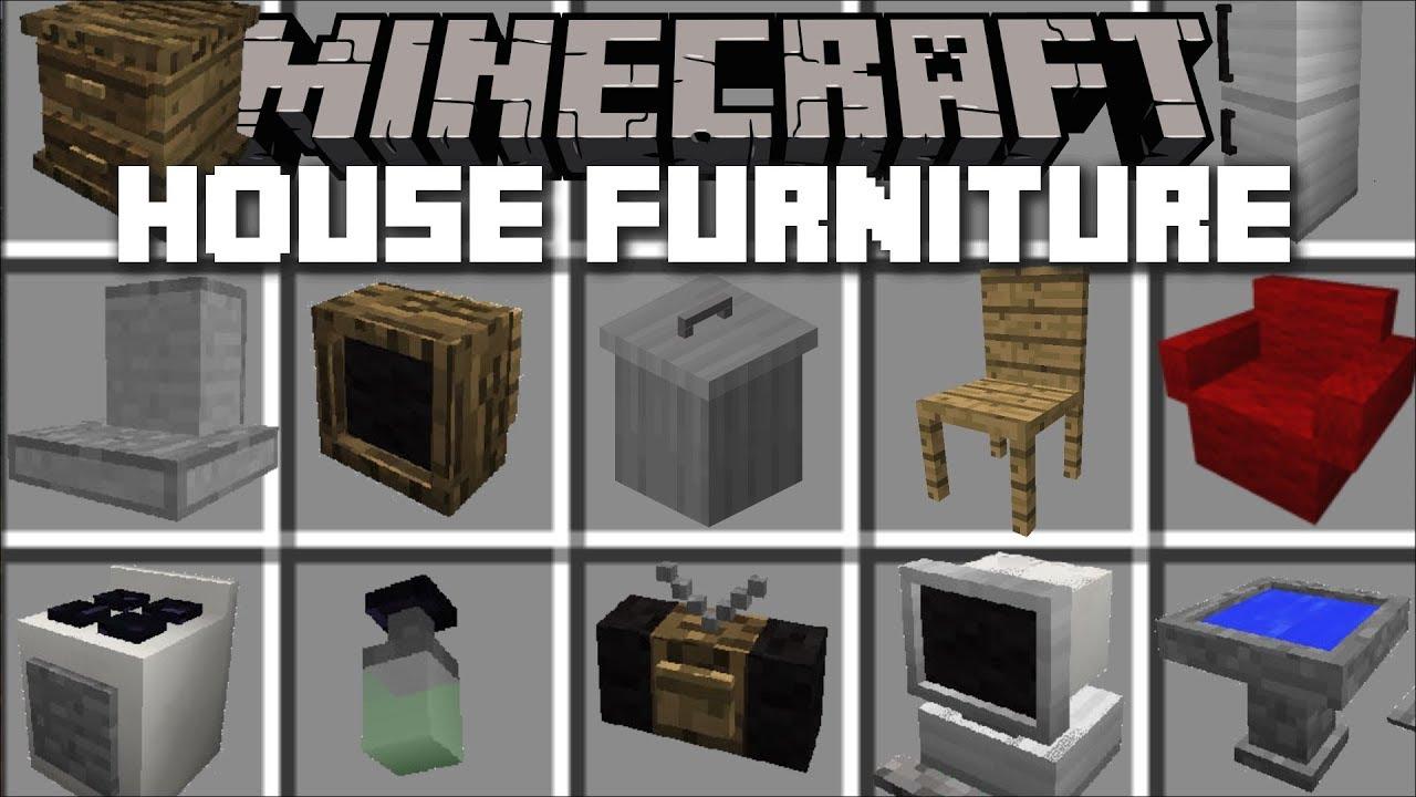 Minecraft FURNITURE HOUSE MOD / FRIENDLY ZOMBIE HOUSE!! Minecraft