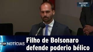 Deputado Eduardo Bolsonaro defende que Brasil tenha armas nucleares | SBT Notícias (15/05/19)