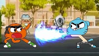 Gumball and Darwin Fights - Player 1 vs. Player 2 - Kids play MUGEN