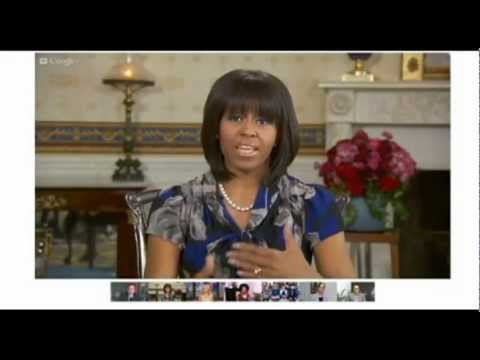 Global Hangout Presentation - Michelle Obama Effectively Uses Google+ Hangouts