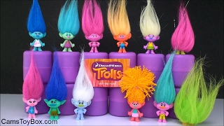 Dreamworks Trolls Blind Bags Series 1 Series 2 Names Review Toys Collection Fun Playing for Kids