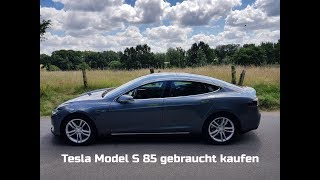 Tesla Model S Gebrauchtwagen am Supercharger in Braak