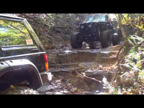 Clemson Offroad coming down Slippery Nipple - Durhamntown Plantation