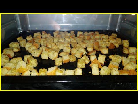 Как в духовке сделать сухари из черного хлеба 652