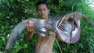 Yummy BBQ 5Kg Big Fish - Cooking Big Fish on the Rock Eating Delicious