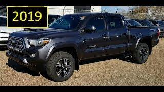 2019 Toyota Tacoma Double Cab TRD Sport Premium Upgrade Package review of features and walk around