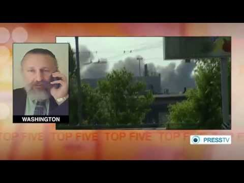 Battle at Donetsk Airport :Ukrainian troops - pro Russian activists