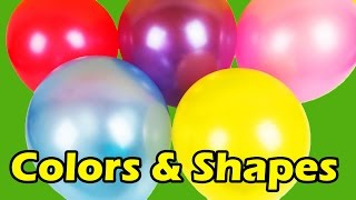 LEARN COLORS | LEARN SHAPES |  Color Balloons | Fun Learning For Children | Children Nursery Rhyme