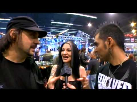 Dave Lombardo of Slayer at Dean Guitars + Ddrum NAMM 2010!!