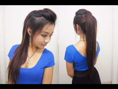 Trendy Layered Rocker-Inspired Ponytail