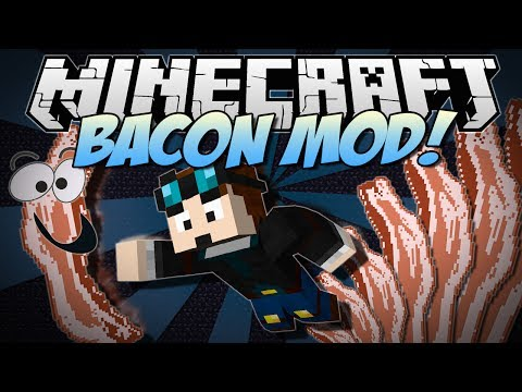 Minecraft BACON MOD Bacon Trees Rainbow Bacon Sloths More Mod Showcase