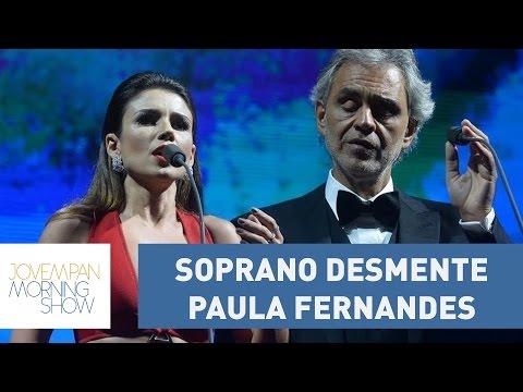 "Soprano desmente Paula Fernandes: ""nunca abandonei o palco""   Morning Show"