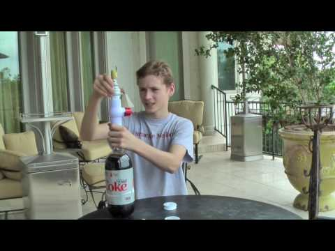 Diet Coke and Mentos Shoots 40+ Feet!