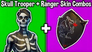 10 BEST 'SKULL SQUAD' SKIN + BACKBLING COMBOS in Fortnite! (Skull Trooper & Skull Ranger Combos)