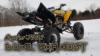 Big Gun Evo R Dual Exhaust Installation! (2016 Raptor 700R)