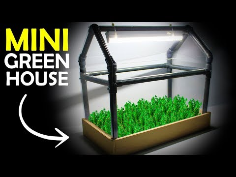 How To Make a MINI GREENHOUSE At Home   Diy Project