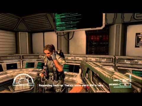 Aliens vs Predator 3 Walkthrough Part 1 Marine Nightmare mission 1 Max Detail HD