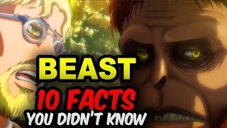 10 BEAST TITAN Facts You Didn?t Know! Attack on Titan Zeke Facts - Attack on Titan Anime Facts