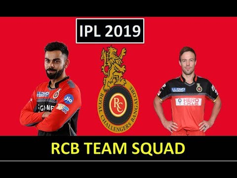 IPL 2019 | Official Team Squad Royal Challengers Bangalore |  RCB Full Players List 2019 VIVO IPL..