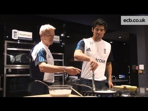 A cookery lesson from Alastair Cook