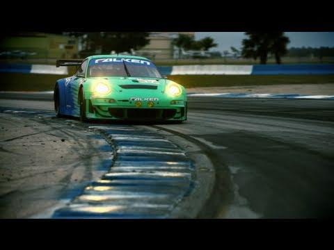 2011 Falken Porsche GT3 RSR Testing - Sebring. FL