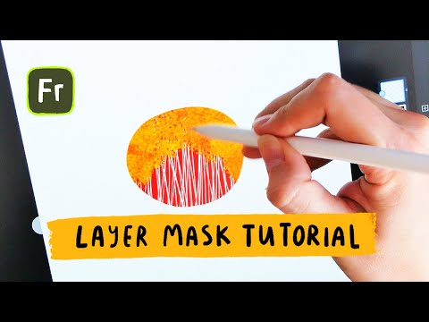 How to use layer masks in Adobe Fresco tutorial