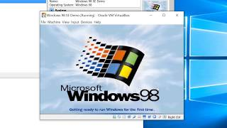 Windows 98 on VirtualBox - How to do it properly. 32bit Graphics, ACPI and Internet Access.