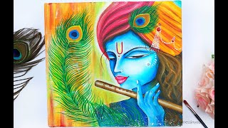 Step by Step Krishna Painting for Beginners / Janmasthami Special