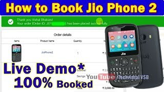 How to Book Jio Phone 2 Flash Sale Online | Live Demo Jio Phone 2 Booking Step By Step Payment