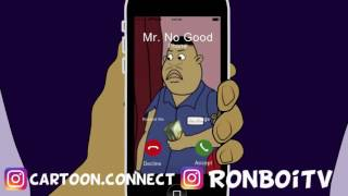 Lil' Ron Ron dad calls to check on and his mama!