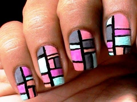 Color blocking nail polish designs tmart review for easy nail art to do at home nail tutorial - Easy nail design ideas to do at home ...