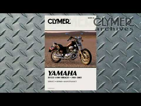 Clymer Manuals Yamaha Virago XV535 XV700 XV750 XV900 XV1000 XV1100 Shop Repair Service Manual Video