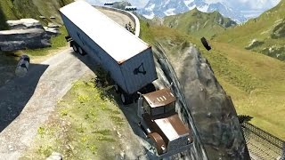 Deadly Spike Strip Crashes! High Speed and Slow Mo Crash Testing - BeamNG Drive Gameplay Highlights