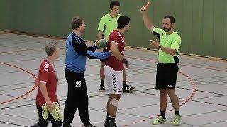"""Handballregeln: Rote Karte nach """"grober"""" Unsportlichkeit"""
