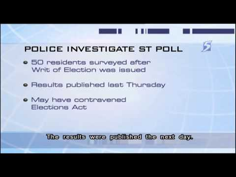 Police investigate Straits Times publication of by-election poll ...