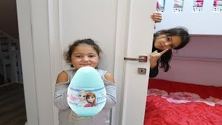 Öykü and Masal Johny Johny Yes Papa Surprise Eggs Fun Kids video