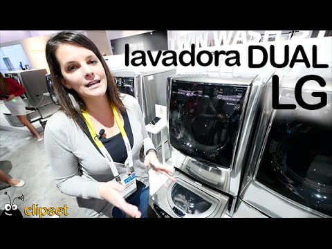 LG Twin Wash lavadora dual preview CES en espa�ol