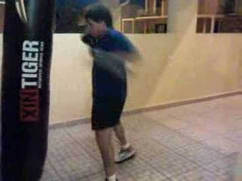 doing the 3 minute bas rutten boxing round