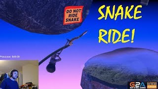 TwitchMadness - Getting Over It - Streamers Ride Snake! (Compilation)