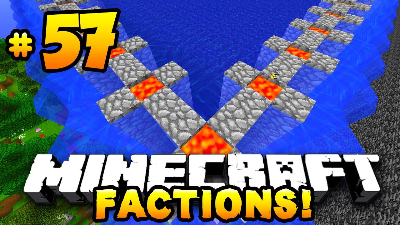 "Minecraft FACTIONS #57 ""LAVA REGEN WALL RAID!"" - w"